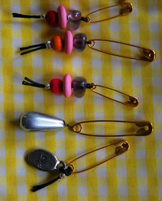 Dollar Store Crafts » Make Stitch Markers for Knitting or Crochet