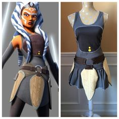 Ahsoka Tano Inspired Running costume by Fit4aPrincessShop on Etsy
