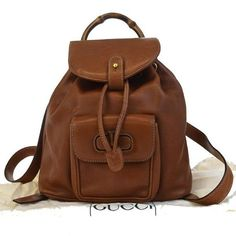92b9e59945 Authentic Gucci Vintage Bamboo Backpack,Gucci Bamboo,Gucci GG  Backpack,Gucci Sac,