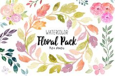 Watercolor Floral Pack - Illustrations