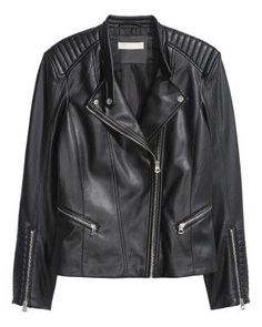 Best Outfit Ideas For Fall And Winter  Leather bike jacket H&M; $59.99   F