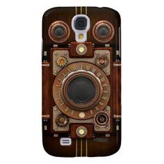Vintage Steampunk Camera #1B Galaxy S4 Case