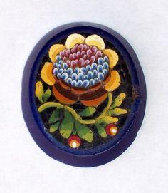 Victorian Micro Mosaic Pietra Dura Sunflower