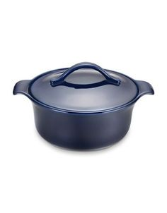 Anolon Vesta Stoneware Covered Casserole - 2.5 Quart Women's Cobalt Bl