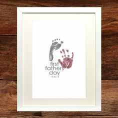 First Father's Day Print designed and printed by Mrs K Designs www.mrskdesigns.co.uk