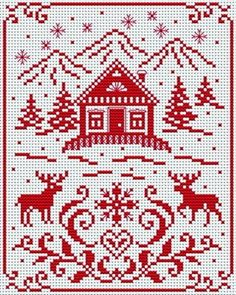 scandinavian cross stitch patterns free - plus others Cross Stitching, Cross Stitch Embroidery, Embroidery Patterns, Cross Stitch Charts, Cross Stitch Designs, Knitting Charts, Christmas Cross, Merry Christmas, Cross Stitch Christmas Ornaments