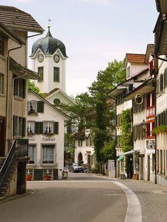 Grüningen Main Street, Switzerland