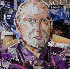 Nancy Standlee Fine Art: Torn Paper Collage Portrait Painting ~ Texas Contemporary Daily Painter Nancy Standlee