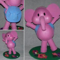 Bonecos de 18 cm  Inclui 1 Pocoyo  1 elefante Elly  1 Pato  1 cachorrinho Lola…