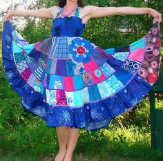 15 Modelos de roupas com Patchwork - Vestidos, Saias &