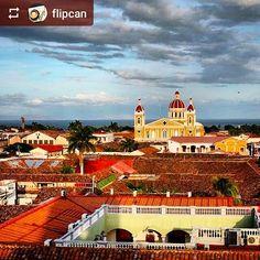 #Follow @flipcan: Granada at #sunset #Granada #Nicaragua #ILoveGranada #AmoGranada #Travel #GranadaNicaragua #CentralAmerica