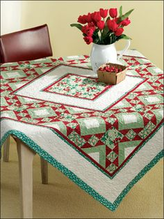 quilted table cloth