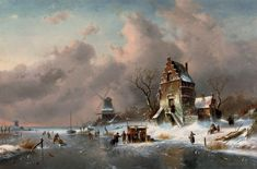 "CHARLES LEICKERT: ""Winter Scene"" (1892)"
