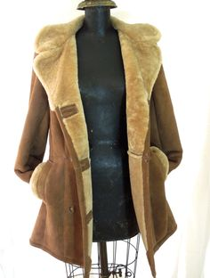 Vintage Shearling Coat  by CityGirlAntiques