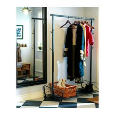 PORTIS Clothes rack IKEA. Entry way area to hang up coats/ take off shoes