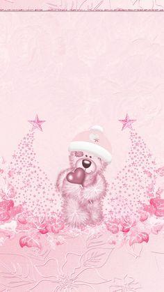 Pink snowflakes winter Christmas