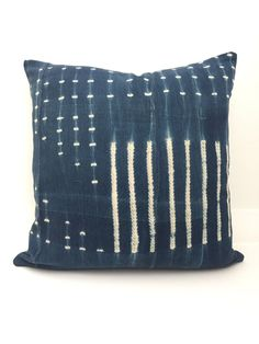 Indigo Pillow Cover, Ethnic, Vintage, Blue