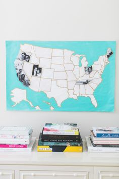 DIY Photo Map with the Paper and Packaging Board + A Giveaway: http://www.stylemepretty.com/2015/10/14/diy-photo-map-with-paper-packaging-a-giveaway/ | Photography: Ruth Eileen - http://rutheileenphotography.com/