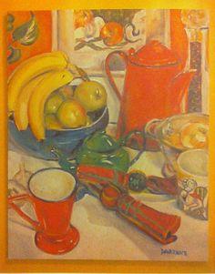 Original oil paintingprinted cardcoffee by StudioMakeBeIieve