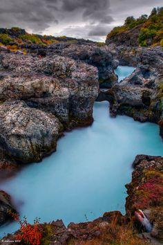 Barnafoss in western Iceland.