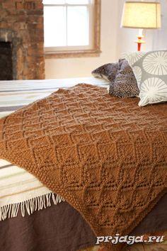 Одеяло спицами