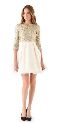0f1f2d4a079 A shopper sur www.shopbop.com Gold Sequin Dress