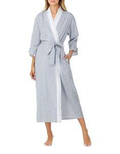 Women | Sleepwear & Lounge  | Eyelet Seersucker Ballet Wrap Robe | Hudson's Bay