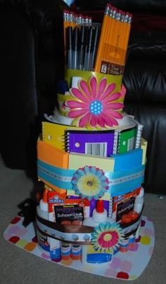 Cake for a Teacher {Supply Cake}