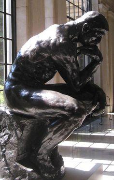 Auguste Rodin, De denker, brons (ook in marmer), Musée Rodin, Parijs Auguste Rodin, Pierre Auguste Renoir, Musée Rodin, Camille Claudel, Modern Sculpture, Sculpture Art, Antoine Bourdelle, Oeuvre D'art, Art And Architecture