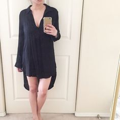 ⚡️SALE⚡️ L/S High Low Shirt Dress/Tunic. Brand new without tag. Just purchased this last month at Nordstrom. I'd just return it but I ripped off the tags. :/ In excellent condition. Very flattering fit. Loose but not an overly loose fit. Only selling to make room in my over stuffed closet. No trades. No PayPal. Leith Dresses