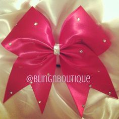 Pink Bling Cheer Bow by BlingNBoutique on Etsy- I would love to learn how they make them like this, so pretty