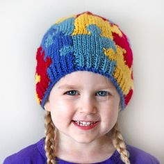 Autism Awareness Puzzle Hat from Crocheting the Day Away