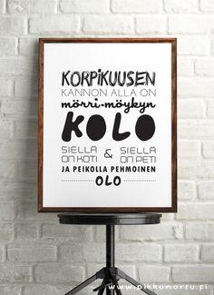Lastenlaulujuliste ja -postikortti. Lyrics posters and postcards from 4.20 €