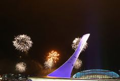 SOCHI, RUSSIA - FEBRUARY 04: Fireworks are seen during the Opening Ceremony dress rehearsal ahead of the Sochi 2014 Winter Olympics, on February 4, 2014 in Sochi, Russia. (Photo by Robert Cianflone/Getty Images)