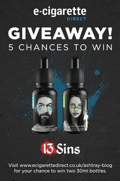 Giveaway: 13 Sins E-Liquid – Enter in Seconds! http://www.ecigarettedirect.co.uk/ashtray-blog/giveaways/13-sins-e-liquid-giveaway?lucky=13170 via @thesmokersangel