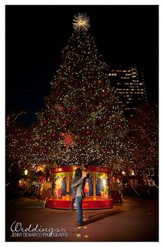Lovely Christmas engagement photo by Jenny Demarco Photography.