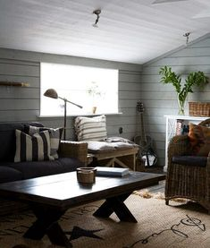 natural comfort (via Sköna hem) (my ideal home. Interior Architecture, Interior Design, Country House Interior, Sectional Furniture, Living Spaces, Living Room, Living Area, My Ideal Home, Life Magazine