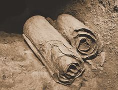The Dead sea Scrolls.  Between 1947 and 1956 Qumran has been the most important archaeological site of the world . In this period a collection of 972 ancient texts in 11 different caves has been found. The majority of them are made of parchment or papyrus, mainly written in Hebrew and Aramaic and few in Greek. http://paolo-deadseascrolls.blogspot.com/2011/06/final-report.html