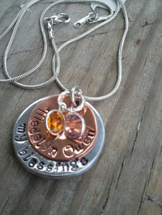 Mommy Necklace with birthstonesmy by GlassyChicBoutique on Etsy, $20.00