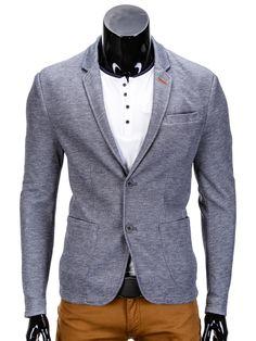 MARYNARKA MĘSKA CASUAL M80 - GRAFITOWA - Sklep Ombre Blazer, Jackets, Fashion, Moda, Fasion, Sports Jacket, Fashion Illustrations, Fashion Models, Blazers