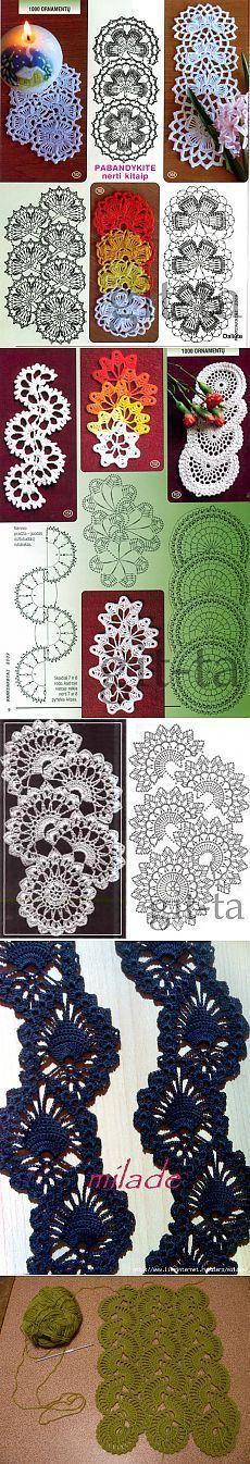 Ленточное кружево. Подборка.. [] # # #Tape, # #Doilies, # #Crochet #Patterns, # #Knitting, # #Tissues