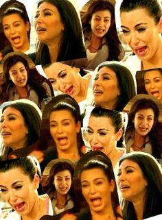 Khloe Kardashian's original collage of Kim Kardashian crying