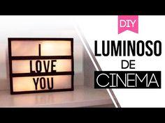 DIY Light box | Tumblr Decor - Luminária LED frase - YouTube