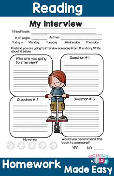 Reading Homework made easy! This set of reading response sheets will be a hit with your students. Increase their reading accountability with a variety of fun filled response sheets!