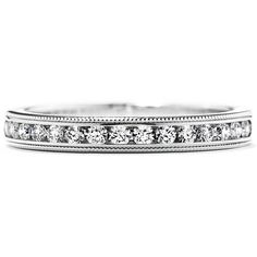 Eterne Milgrain Diamond Wedding Band - LeGassick