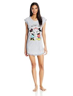 5550ec256c Disney Women s Mickey and Minnie Mouse Sleep Shirt Mickey Mouse Clubhouse  Disney Mickey Minnie Donald Daisy Goofy Roadster Racers
