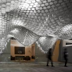Beautiful Ceiling Installation Made Of Paper Tube This Is A Beautiful Installation Designed By Cristina Parreno Architecture With Mit For The Art Fair Arco