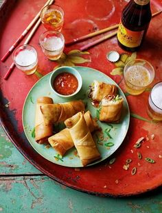 Spring Rolls Similar to some special Thai rolls I used to get at a restaurant…