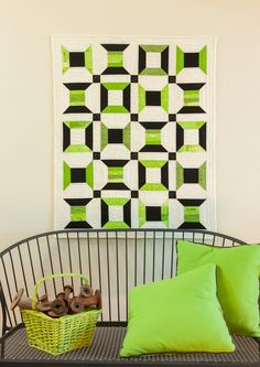"""This week's FREE pattern GO! Spinning Spool Quilt Pattern. This pattern is made using our NEW GO! Spool-6"""" Finished BOB Die. The fabric for this lovely quilt was provided by P&B Textiles. Free Pattern: http://www.accuquilt.com/shop/go-spinning-spool-quilt-pattern.html"""