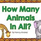 Students count the animals and write the answers on their answer recording sheets.  Then, scan the QR code with any QR code reader to check their a...